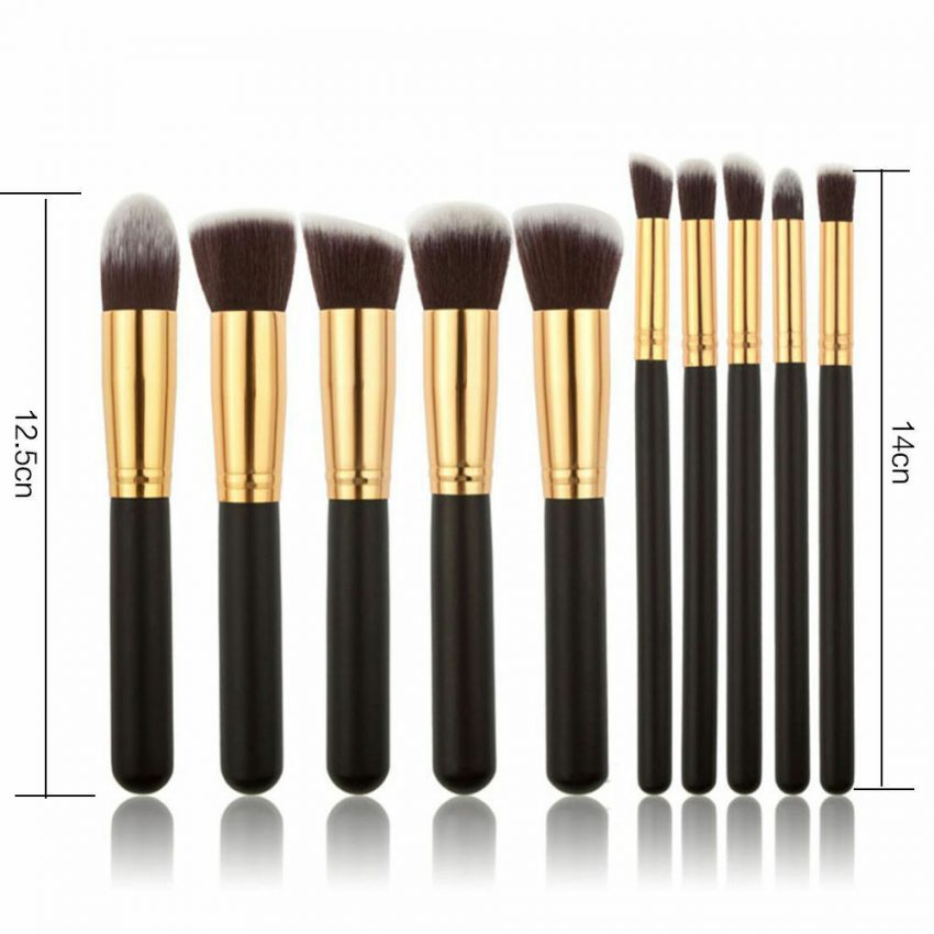 Pro 10pcs Makeup Cosmetic Blush Brush Foundation Eyebrow Kit 4