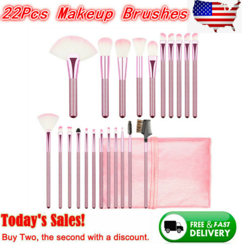 22pcs/set Professional Cosmetic Makeup Brush Foundation Brushes with Bag Case 1