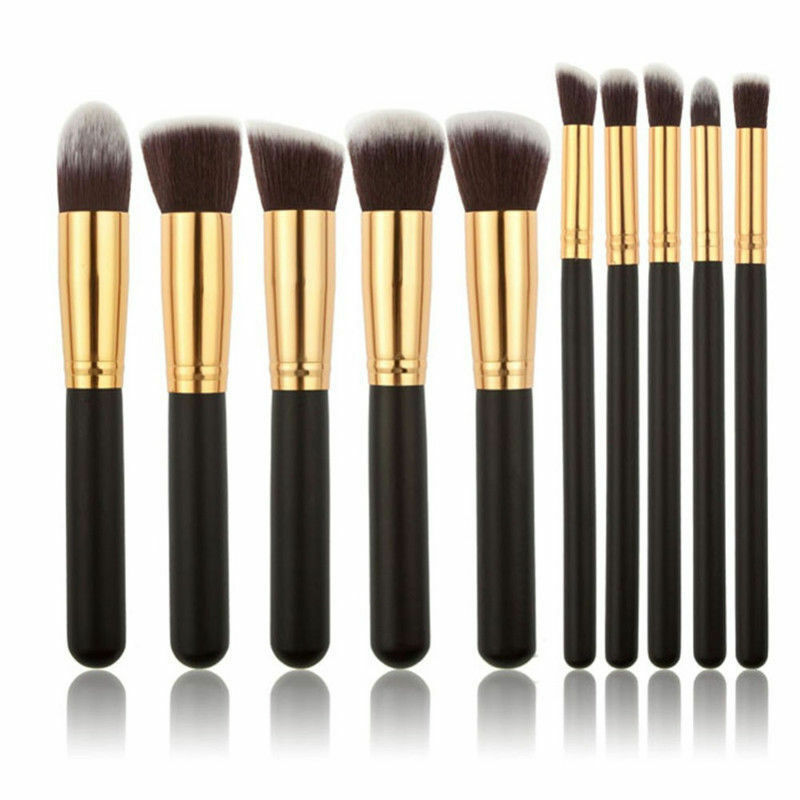 Pro 10pcs Makeup Cosmetic Blush Brush Foundation Eyebrow Kit 3