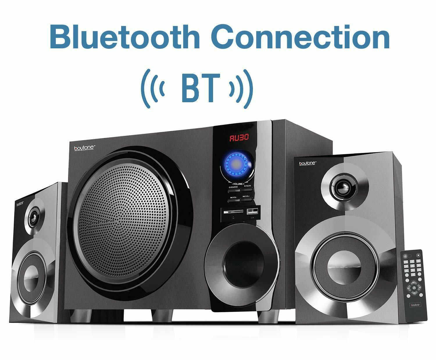 Boytone BT-225FB Powerful Wireless Bluetooth Home Speaker System 60 W, FM Radio