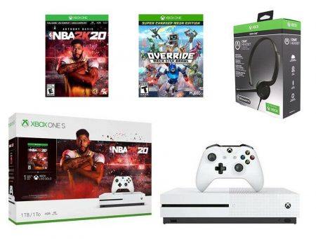 Xbox One S 1TB Console - NBA 2K20, Override and Headset 1