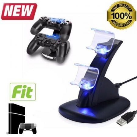 PlayStation 4 PS4 Dual Controller LED Charger Dock Station USB Fast Charging 12