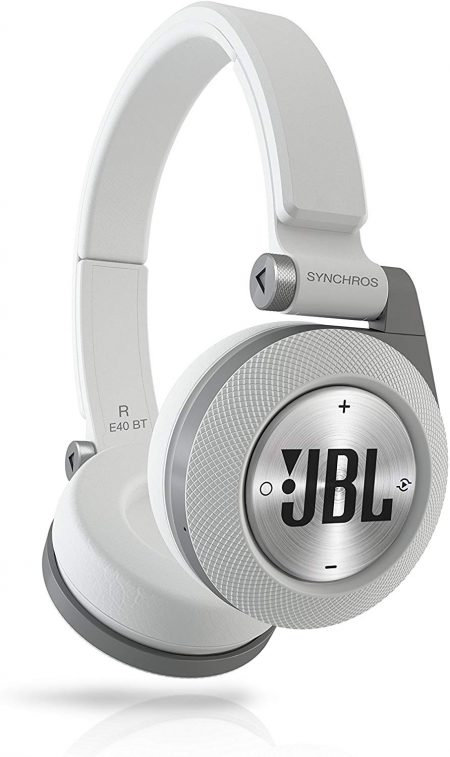 JBL Synchros White On-Ear Wireless Headphones 8