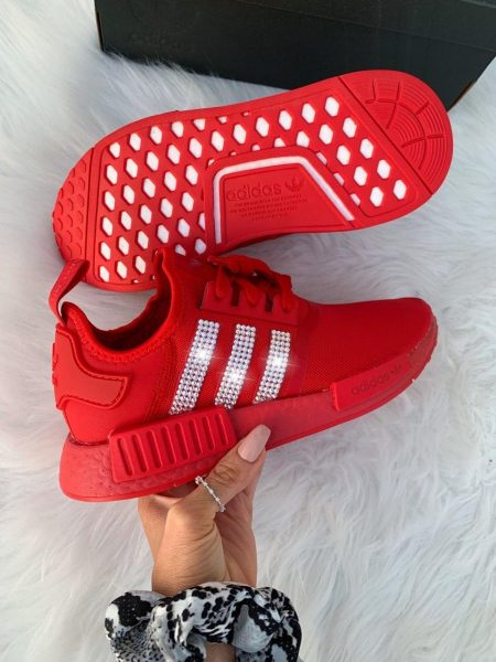 Red Swarovski Adidas NMD (Custom) 6