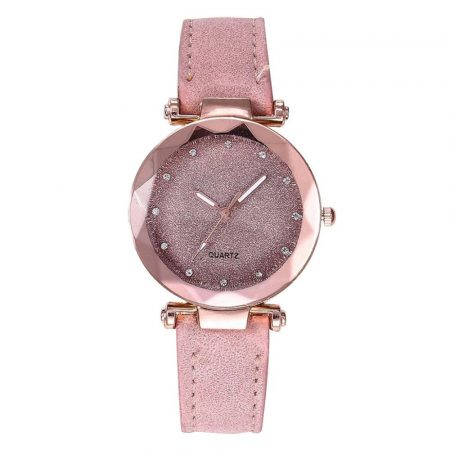 Romantic Leather Rhinestone Starry Sky Wrist Watch 6