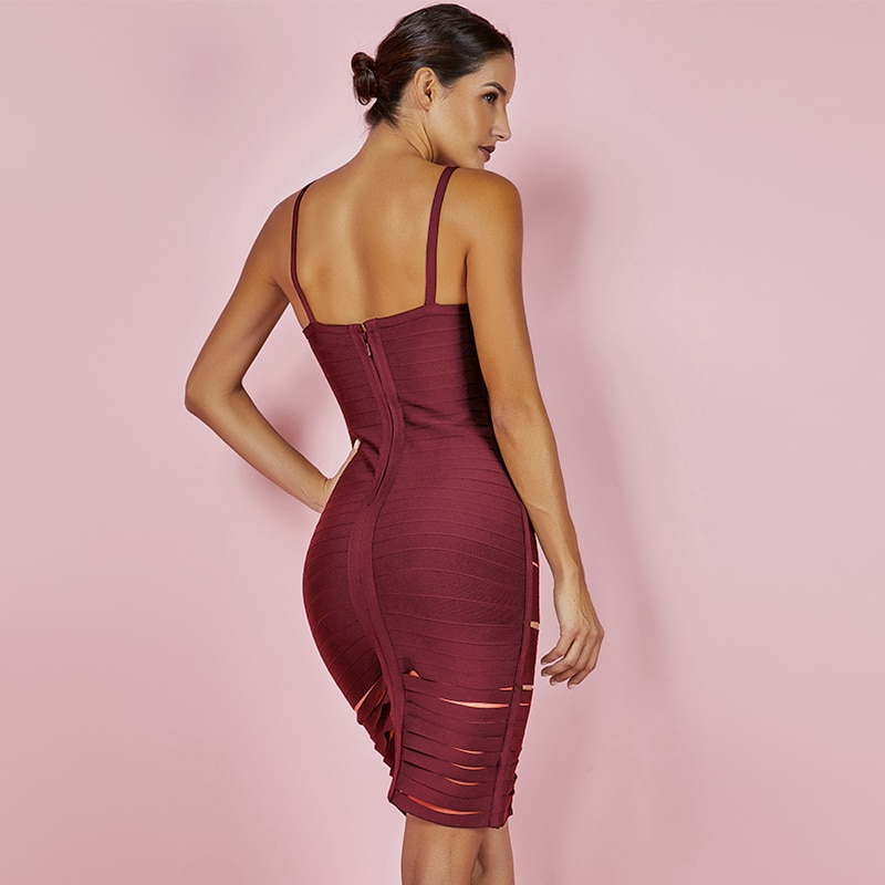 Sexy Hollow Out Bandage Dresses 2020 6