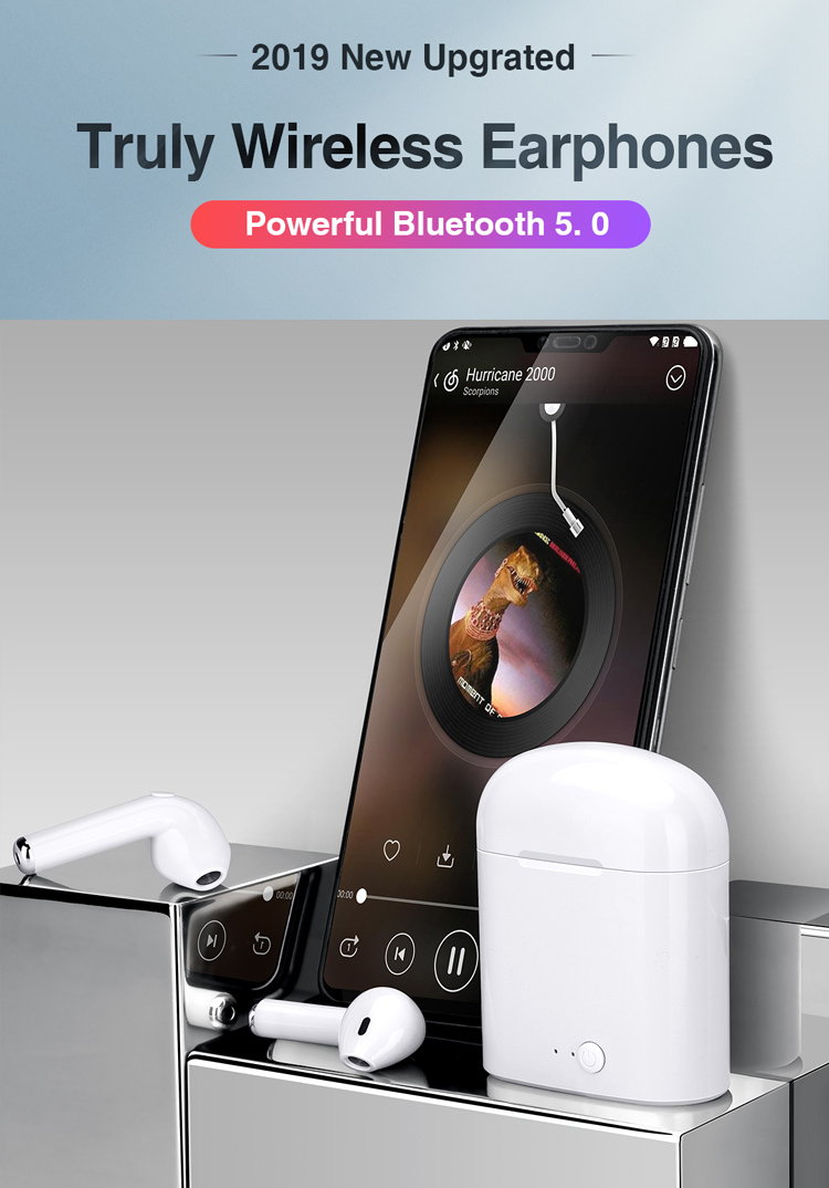 Wireless Bluetooth Earphone With Charging Box For Phone 2