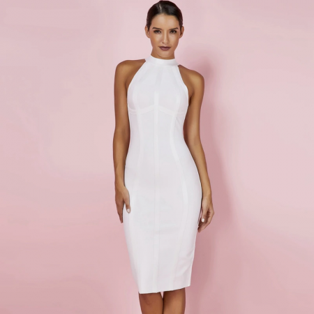 White Bodycon Dress Night Club