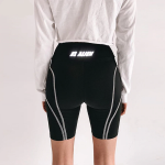 Women Reflective letter print shorts 1