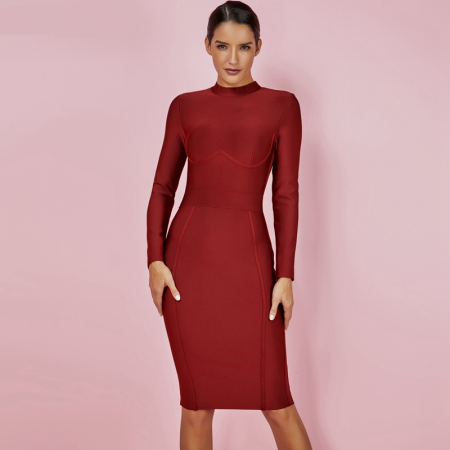 Long Sleeve Bandage Dress 2020