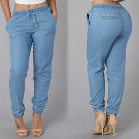 Ostrich women Elastic pants 1
