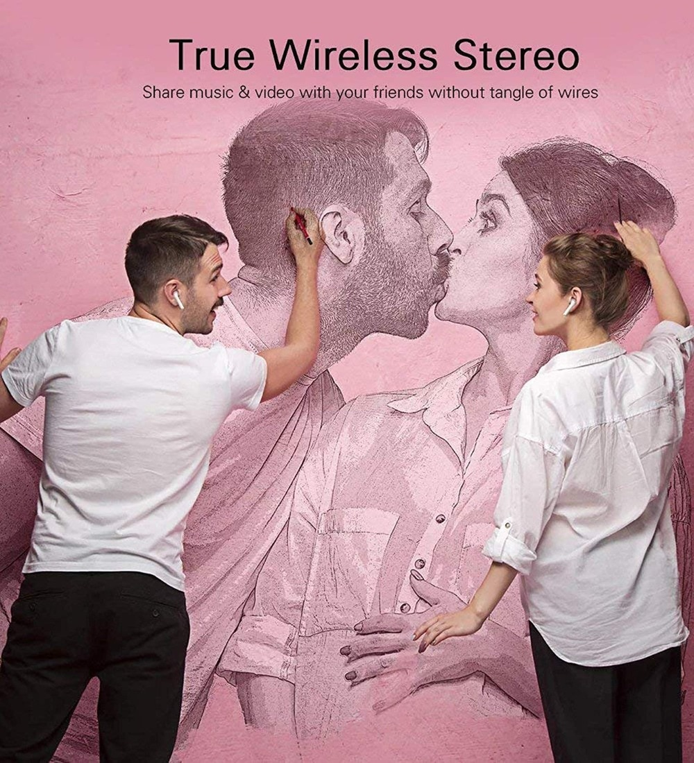 Wireless Bluetooth Earphone With Charging Box For Phone 1