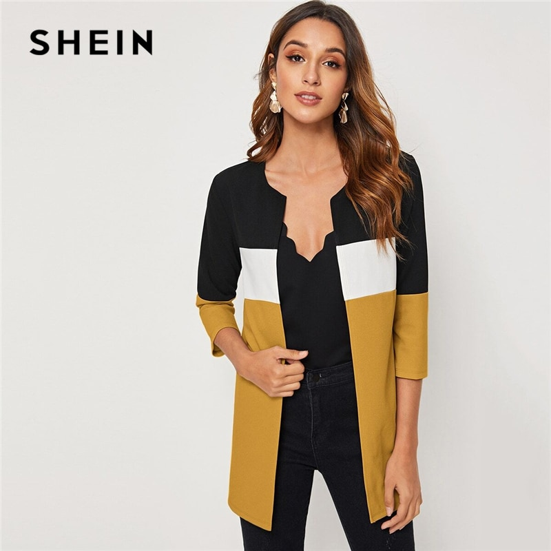 Color block Round Neck Cut Top 5