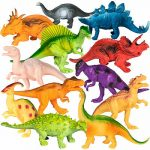 BCP 12-Pack Kids Dinosaur Toy Figure Play Set