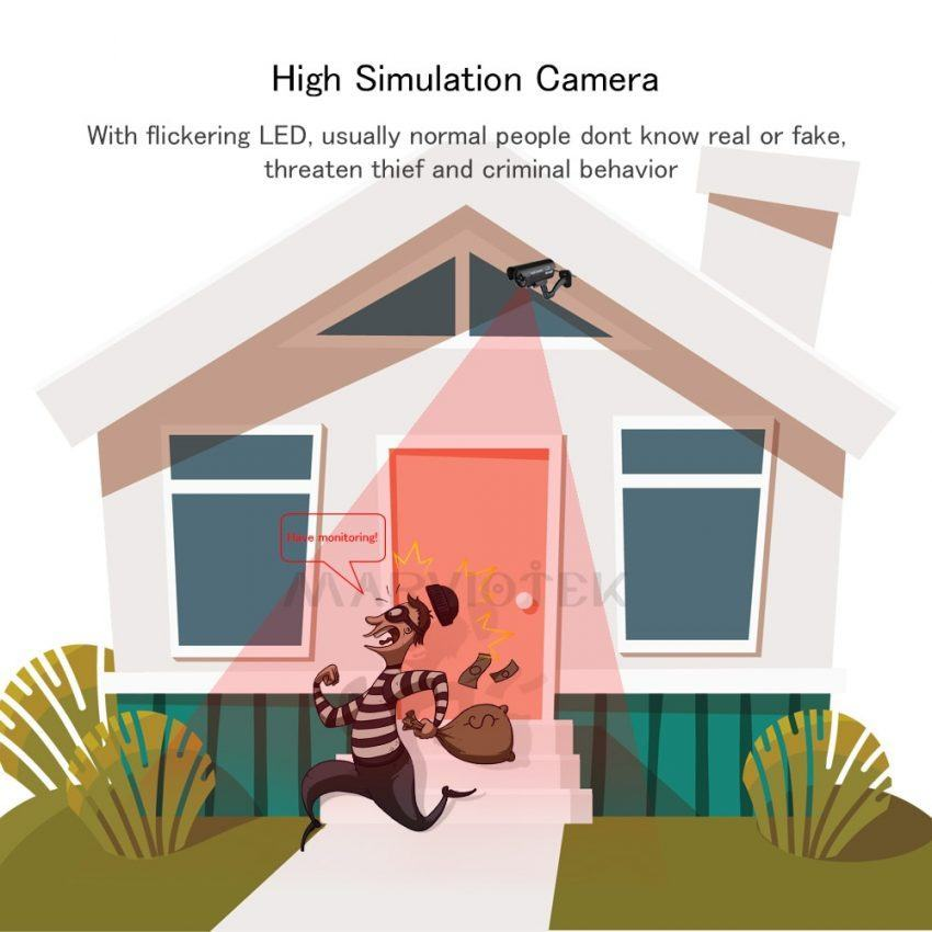 Fake Dummy Camera Outdoor Waterproof Home Security 5