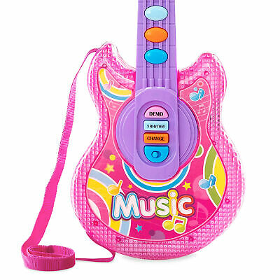 BCP 19in Kids Toddlers Musical Flash Guitar Pretend Play Toy w/ Mic, Stand 3