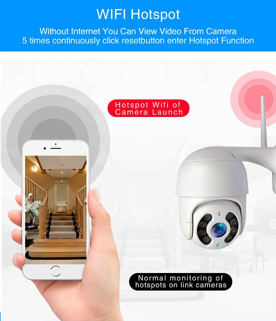 WiFi IP Camera Outdoor Night Vision Mini Speed Dome CCTV Camera 1080P Home Security 7