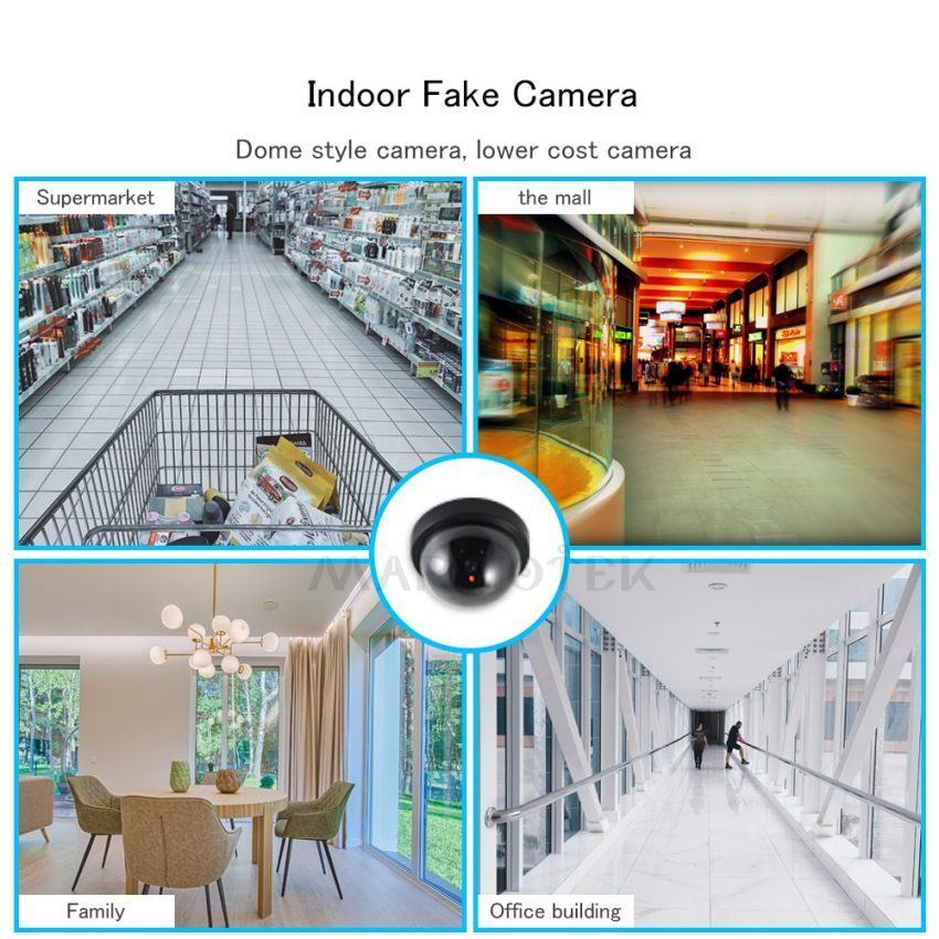 Indoor Home Security Fake Camera Dome Dummy Camera with Flash LED 6