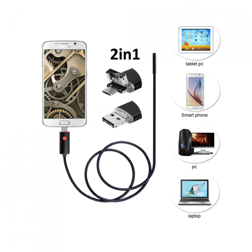 10m 2 in 1 Mini Camera HD USB endoscope camera Android