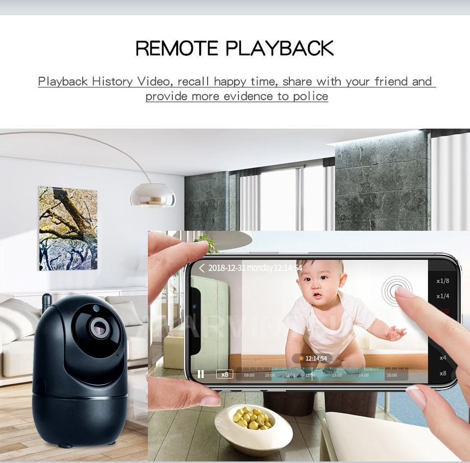 Home Security IP Camera wifi Auto Tracking IP Camera Wifi Motion Detection Two Way 10
