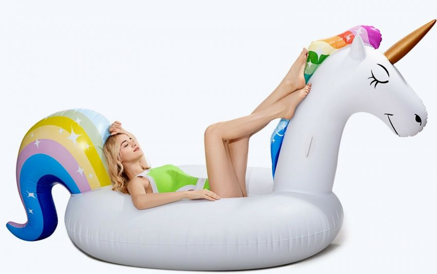 Giant Unicorn float Inflatable Pool Floatie Adult raft swimming lounge 2