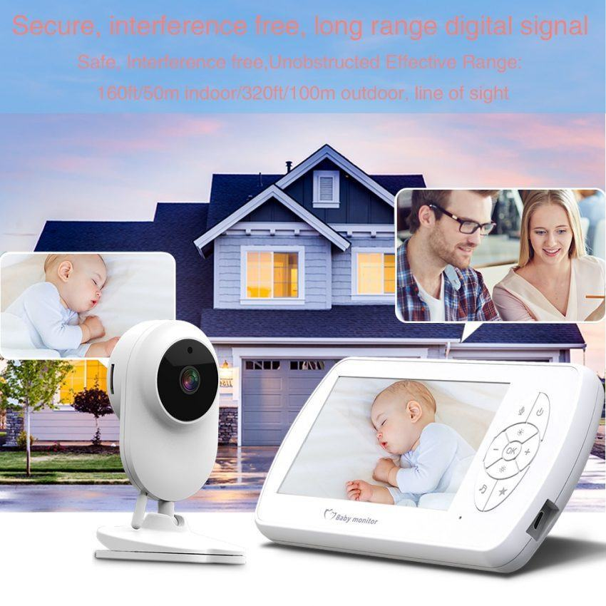 Baby Monitor Two way Audio Nanny Video 4.3 inch Baby Security Camera 6