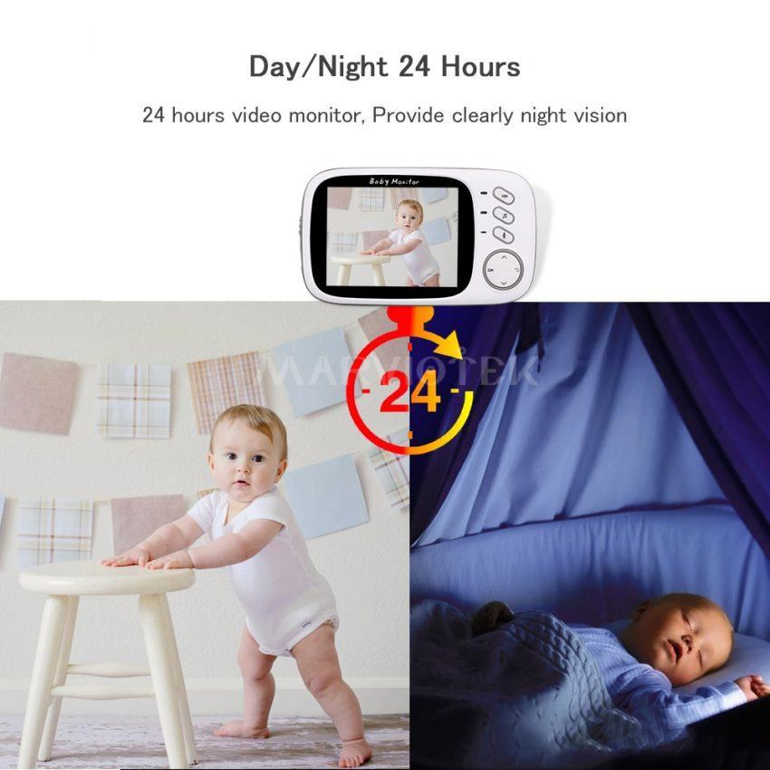 Baby Monitor electronics monitors with 3.2 inch LCD Night vision Two way talk 2