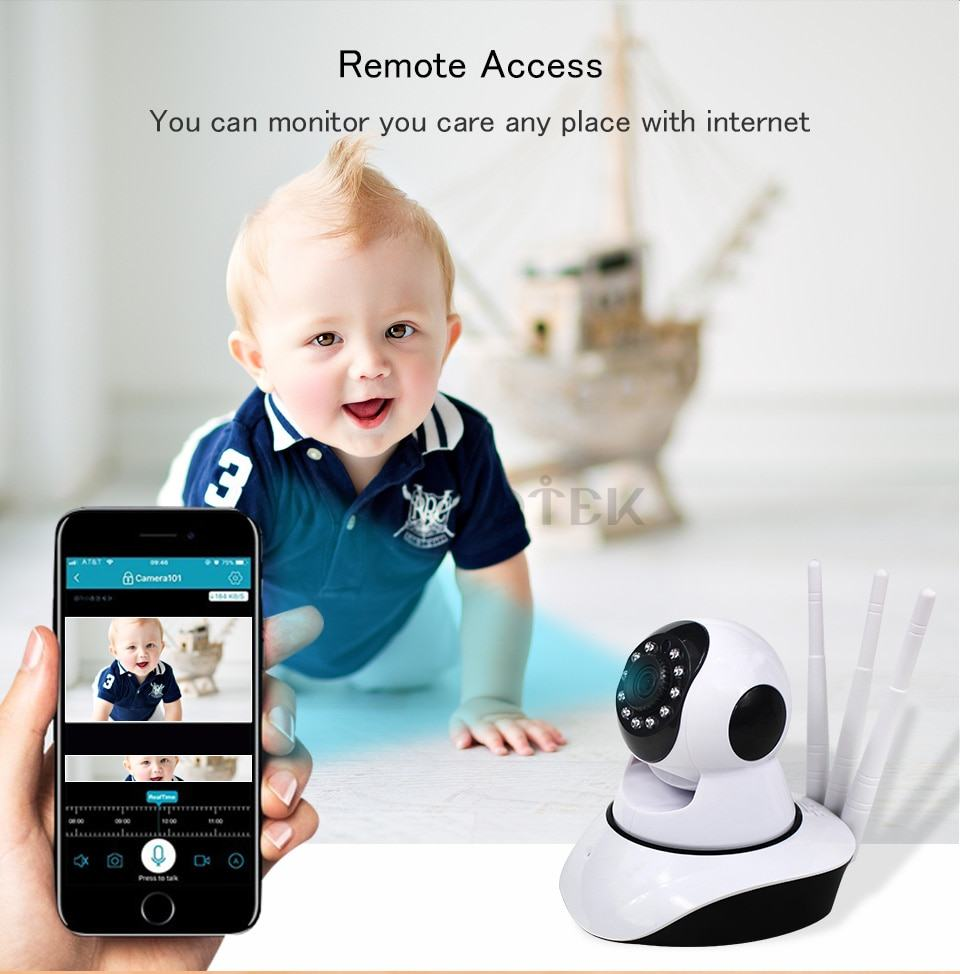 Baby Monitor wifi IP Camera wifi home security Radio Video 9