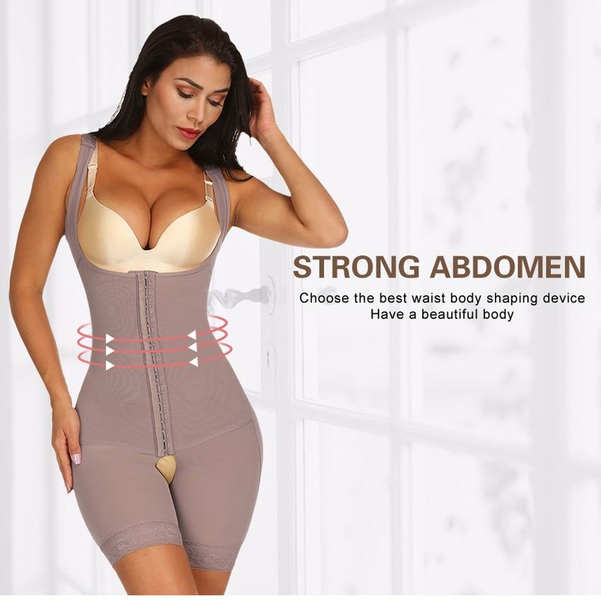 Fajas Full Body Shaper Modeling Belt Waist Trainer Butt Lifter  4