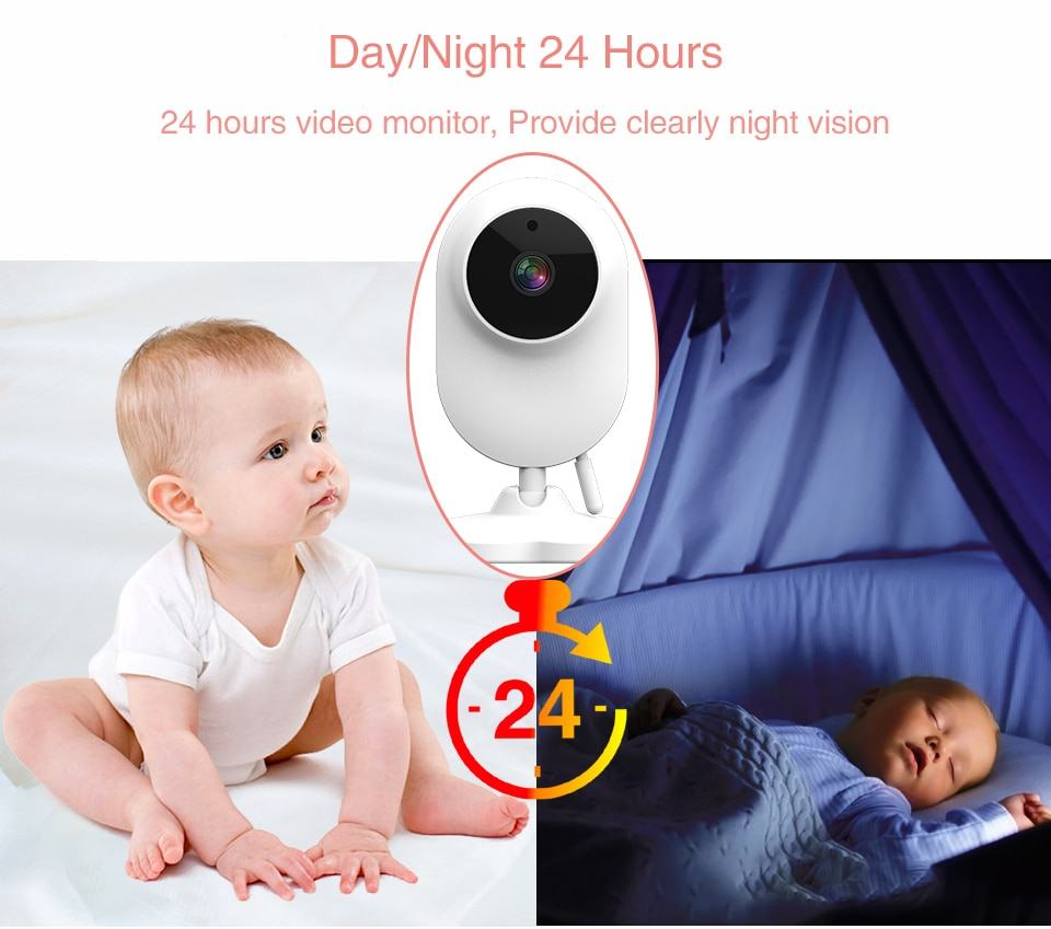 Baby Monitor Two way Audio Nanny Video 4.3 inch Baby Security Camera 5