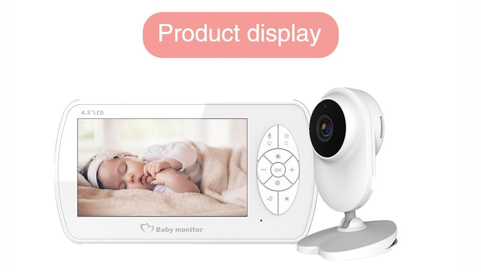 Baby Monitor Two way Audio Nanny Video 4.3 inch Baby Security Camera 9