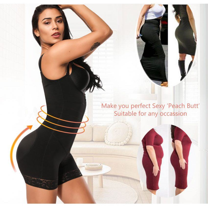 Clip and Zip Waist Lace Slimming Shaper Corset  3