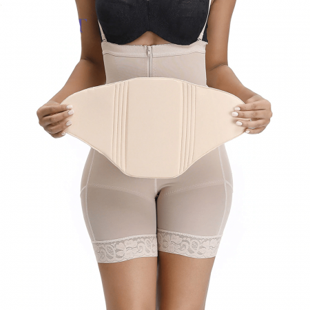 Women Body Shaper Beige Postpartum Recovery Compression