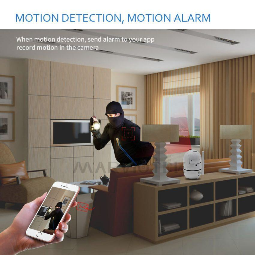 Home Security IP Camera wifi Auto Tracking IP Camera Wifi Motion Detection Two Way 6