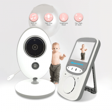 Wireless LCD Audio Video Baby Monitor Radio Nanny Music Intercom