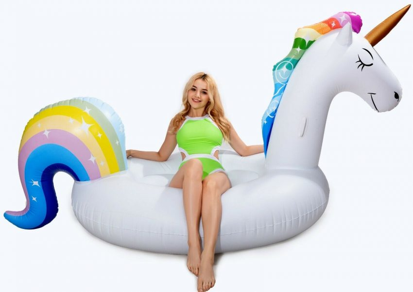 Giant Unicorn float Inflatable Pool Floatie Adult raft swimming lounge 5