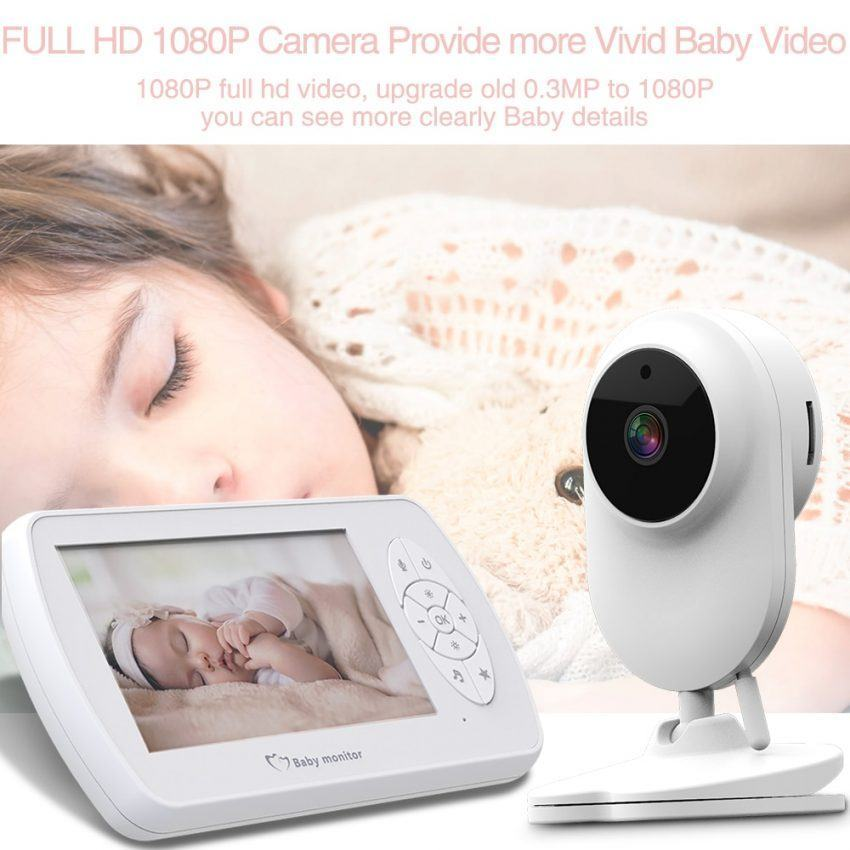 Baby Monitor Two way Audio Nanny Video 4.3 inch Baby Security Camera 4