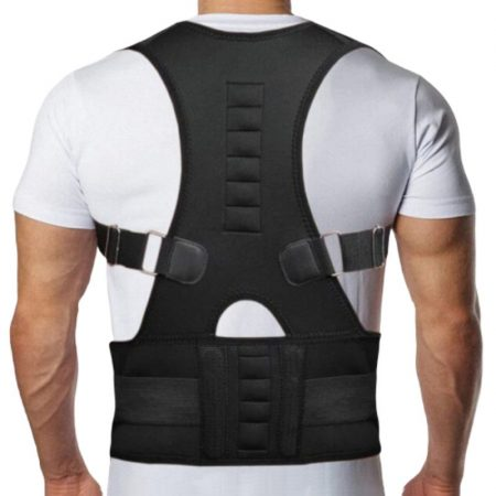 Magnetic Therapy Posture Corrector Brace Shoulder Back Support Belt for Men 31