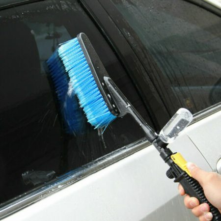 Car Wash Hair Brush Clean Pile Bottle Soft Bristle Handle Switch Vehicle Tools