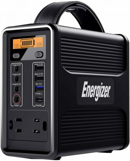 Energizer 150-W Quiet Portable Solar Power Station Inverter Generator w/ Battery