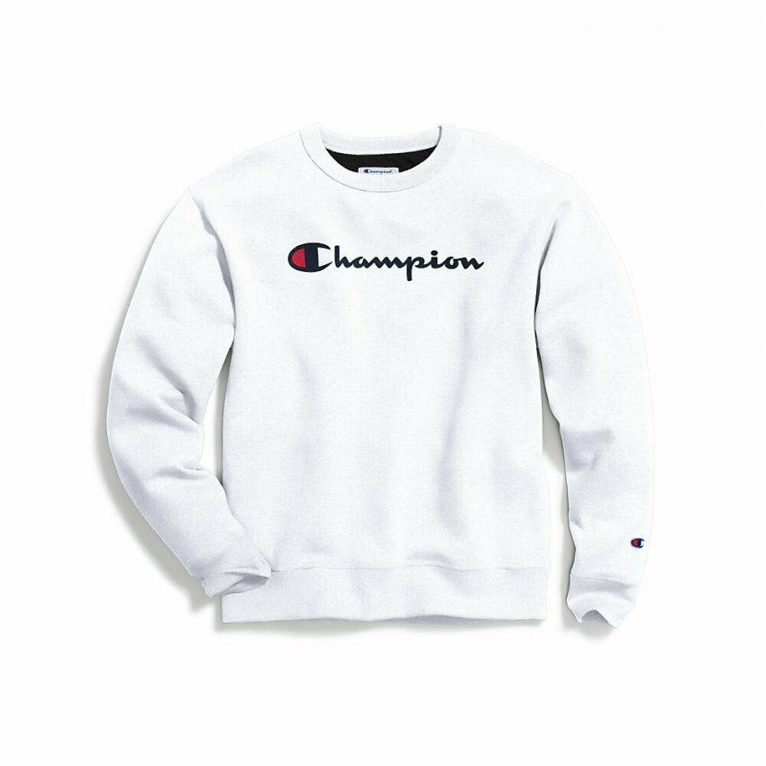Champion Men's Powerblend® Crew, Script Logo 6