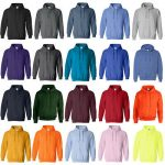 Gildan Men's Long Sleeve Front Pocket Pullover Hoodie 1