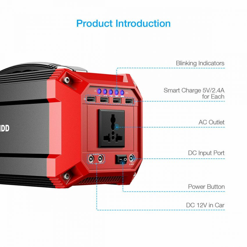 Poweradd 73000mAh Portable Solar Power Inverter Generator Supply Energy Storage 1