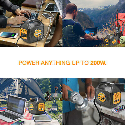 S200 Portable Power Station For Camping and Emergency Uses (Solar/Car/Wall) 5