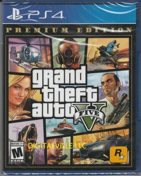 Grand Theft Auto V Premium Edition PS4 Brand New Factory Sealed GTA 5