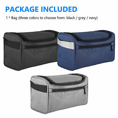 Travel Wash Bag Toiletry Organizer Shaving Cosmetic Make-up Case Waterproof Mens 8