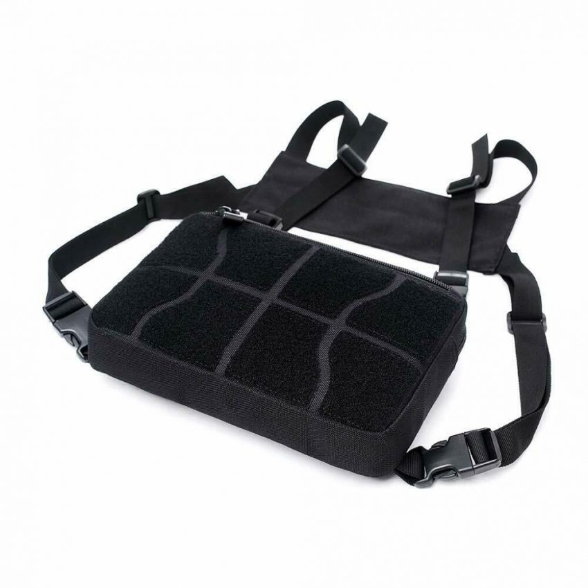 Outdoor Tactical Molle Combat Chest Rig Bag Front Pouch Recon Kit Pack 10