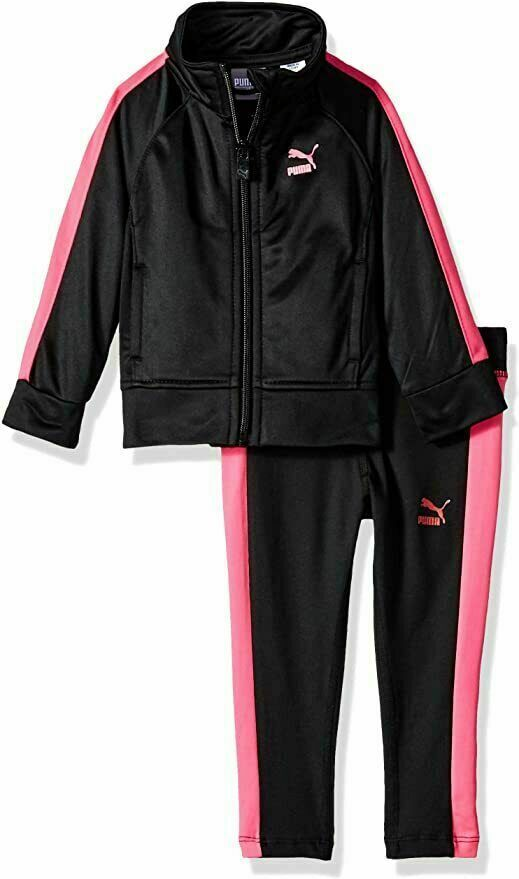 Puma Little Girls' Tricot Jacket and Legging Set (Ages 2 - 7 Years)