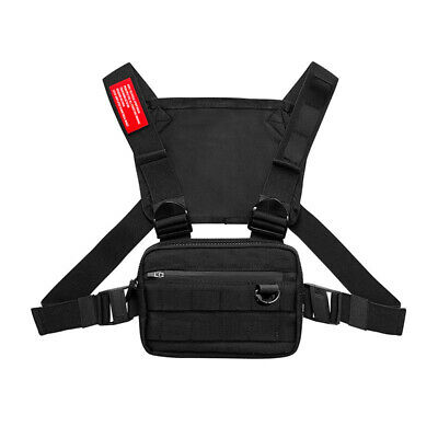 Men Chest Rig Bags Backpack Molle Tactical Harness Chest Vest Assault Pack 1