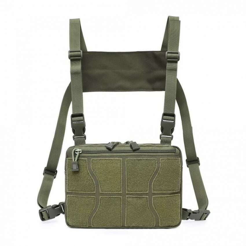 Outdoor Tactical Molle Combat Chest Rig Bag Front Pouch Recon Kit Pack 2